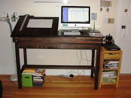 standing workstation ikea desk ergonomics rolling shelf cart