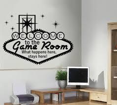 game room wall sticker boys teens bedroom door decal diy children