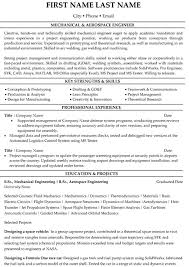 Resume Sample For Mechanical Engineer by Aeronautical Engineer Sample Resume 19 Uxhandy Com