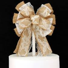 burlap cake toppers wedding bow cake toppers package bows