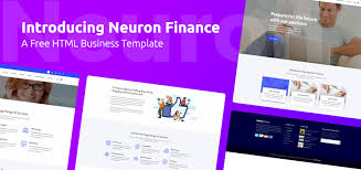 introducing neuron finance a free html business template trendy