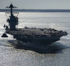 most expensive boat in the world largest naval ship aircraft carrier in the world commission us