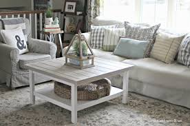 farmhouse style living room features square white ikea hemnes
