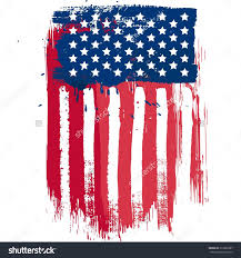Flags Us Unique Stock Vector Vertical Position American Flag In Grunge
