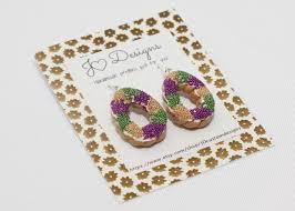 mardi gras gifts king cake earrings mardi gras earrings mardi gras jewelry gifts