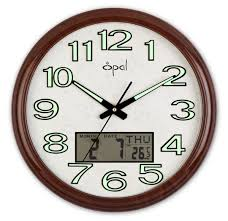 minimalist wall clock buy opal ana digi clock with luminous dial brown online at low