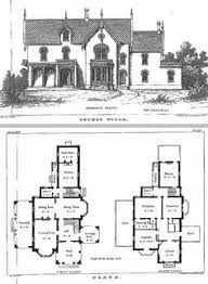 Architecture Design Floor Plans 1874 Print Victorian Architecture Suburban House Villa Floor Plans