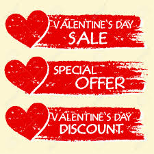 valentines sales valentines day sale and discount special offer text with hearts