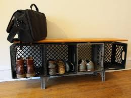 How To Build A Bedroom Bench Best 25 Crate Bench Ideas On Pinterest Diy Storage Crate