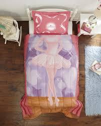 Hello Kitty Bedroom Set Twin Amazon Com Dream Big Ballerina Ultra Soft Microfiber 2 Piece