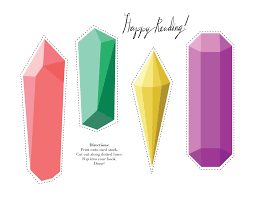 printable freebie gemstone bookmarks u2013 design sponge