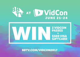 win a gift card win 2 creator passes to vidcon 2017 and 300 visa gift card from