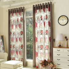 Gray And Red Curtains Red Sheer Curtains Golinens Luxury Solid Sheer Window Treatment