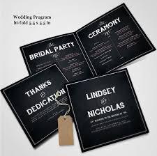 Chalkboard Wedding Program 20 Elegant Wedding Program Templates