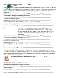 natural selection worksheet free worksheets library download and