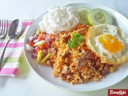 cara membuat nasi goreng untuk satu porsi nasi goreng sapi lezat dan menggugah selera resep resepkoki
