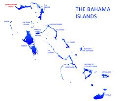 Map Bahamas Shoreline Grand Bahama Island Location