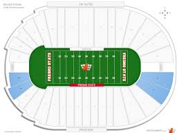 Fresno State Parking Map by Bulldog Stadium Fresno State Seating Guide Rateyourseats Com