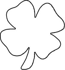 Four Leaf Clover Color Page lets draw four leaf clover coloring page netart