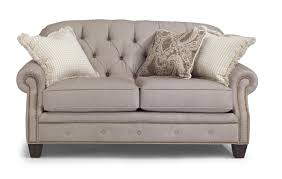 Holmwood Furniture Somersworth Nh by Flexsteel Champion Transitional Button Tufted Loveseat With Rolled