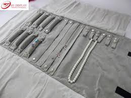 necklace holder case images 2018 wholesale portable gray velvet jewelry display set travel jpg