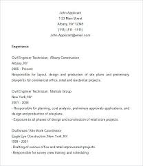sample resume for construction site supervisor cad draftsman