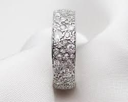 art deco wide diamond eternity band diamond studded wedding band