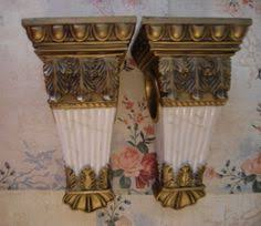 Curtain Rod Sconce Pair Wall Sconce Brackets Tapestry Curtain Rod Shabby White Color