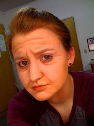 stage makeup classes portrait of kacie as a sad woman makeup classes