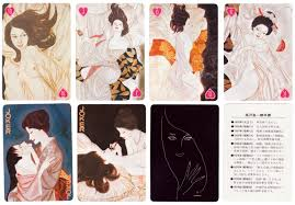 japanese women the world of playing cards