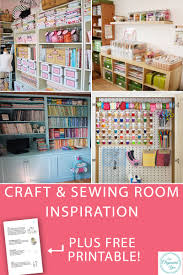 Craft Sewing Room - craft and sewing room inspiration blog home organisation the