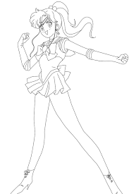 sailor jupiter victory lineart hero awesome deviantart