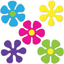 retro flower mini cutouts 10 per unit windy city novelties