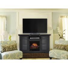 48 black electric fireplace heater walmart com