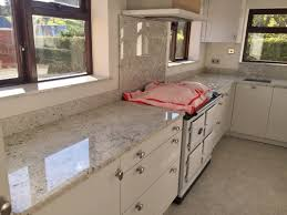 interior awesome colonial white granite countertop with glass