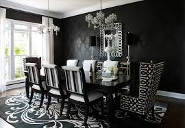 Stencil Damask Dining Room Contemporary With Wallpaper Leather - Damask dining room chairs