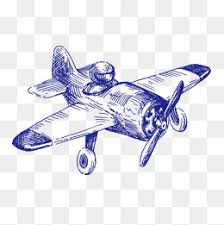small airplane orange aircraft cartoon png and vector for free