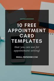 appointment card template 10 free resources for small business