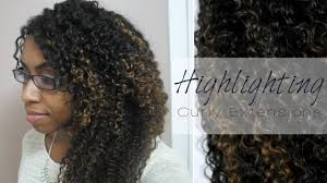 Mongolian Curly Hair Extensions by Diy Highlighting Curly Hair Extensions Youtube