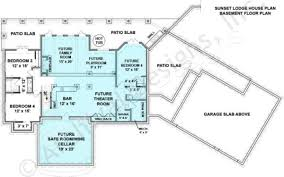 sunset lodge rustic house plans cottage floor plans