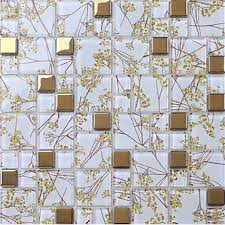 Kitchen Backsplash Wallpaper by Aliexpress Com Buy Free Shipping Gold Flower Pattern Glass