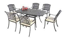 Aluminium Patio Table Metal Garden Furniture Aluminium Patio Furniture Metal Dining