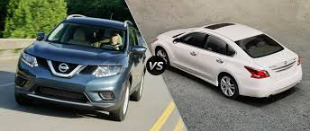 nissan altima 2016 trunk space nissan rogue vs 2015 nissan altima