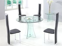 Glass Circular Dining Table Glass Dining Table Irrr Info