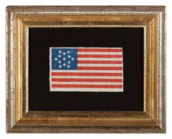 13 Stars In The United States Flag Jeff Bridgman Antique Flags And Painted Furniture 13 Stars In A