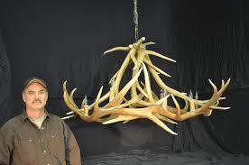 How To Make Antler Chandeliers Lighting Elk Antler Chandelier For Inspiring Unique Lighting