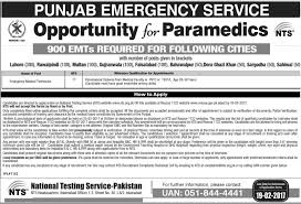 jobs in punjab emergency service rescue 1122 04 feb 2017