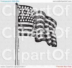 Waving Flag Artist Royalty Free Rf Clip Art Illustration Of A Black And White Retro