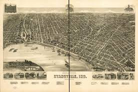 1888 map of evansville indiana founded on the north side of a