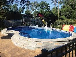 86 best semi above ground pool images on pinterest backyard